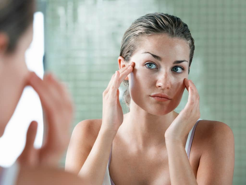 acne treatment with makeup applied